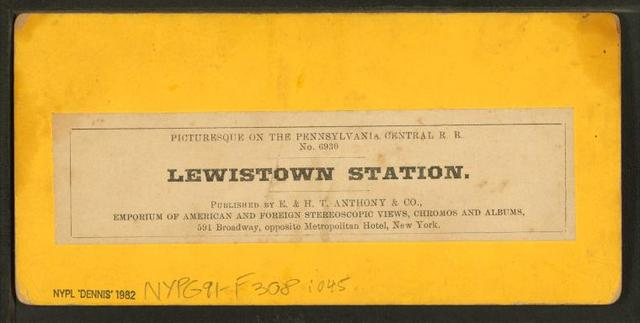 Lewistown Station.