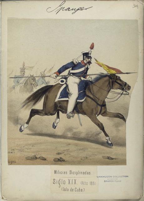 Milicias Diciplinadas. Siglo XIX, Año 1861. (Isla de Cuba).