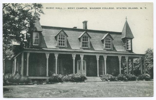 Music Hall  West Campus, Wagner College, Staten Island, N.Y.