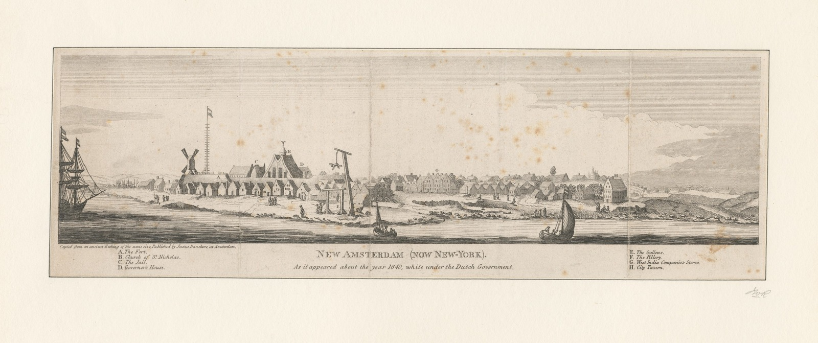 New Amsterdam (now New York) as it appeared about the year 1640