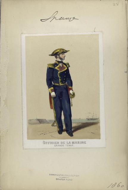 Officier de la marine (grande tenue). 1860