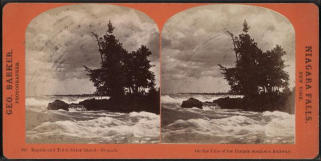 Rapids and Third Sister Island, Niagara.