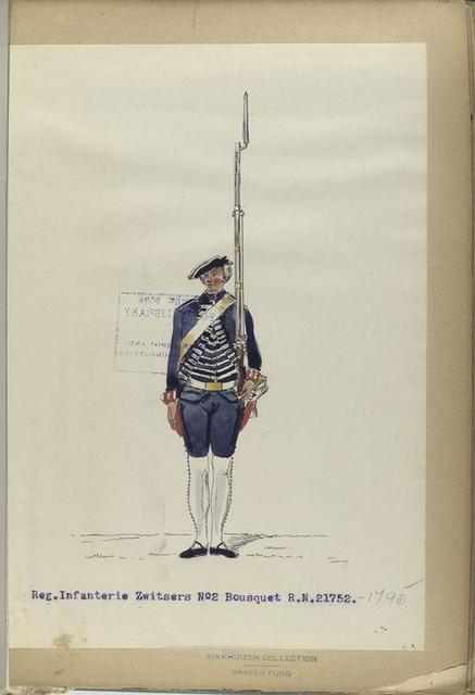 Reg. Infanterie Zwitsers No. 2 Bousquet R.N. 2. 1752-1795