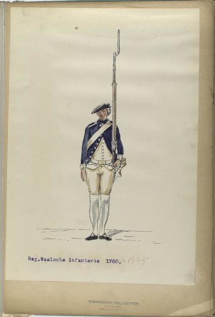 Reg. Waalsche Infanterie. 1760-1795