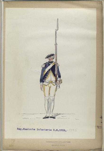 Reg. Waalsche Infanterie  R. W. 1769-1795