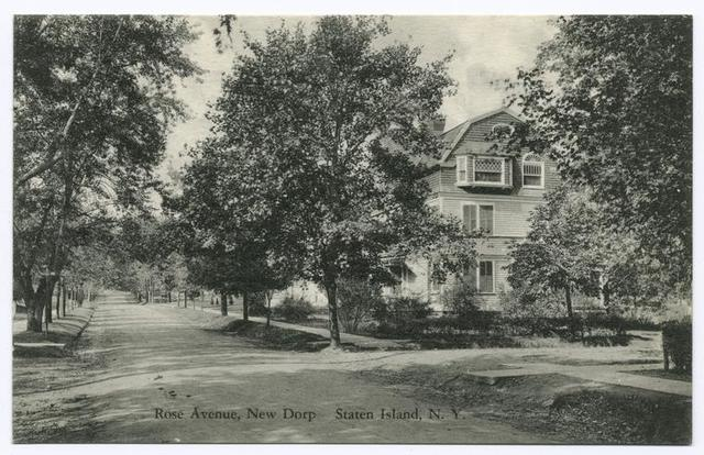 Rose Avenue, New Dorp, Staten Island, N.Y.  [large houses, tree-lined street]