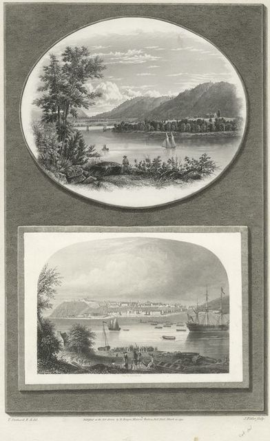 Ruins of Fort Ticonderoga, Lake Champlain ; Quebec in 1775.