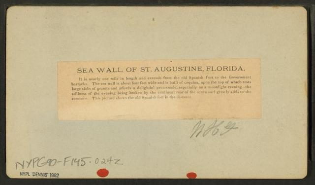 Sea Wall of St. Augustine, Florida.