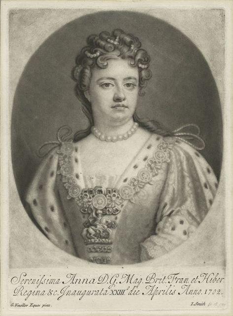 Serenissima Anna D.G. Mag. Brit. Fran. et Hiber. Regina &c.