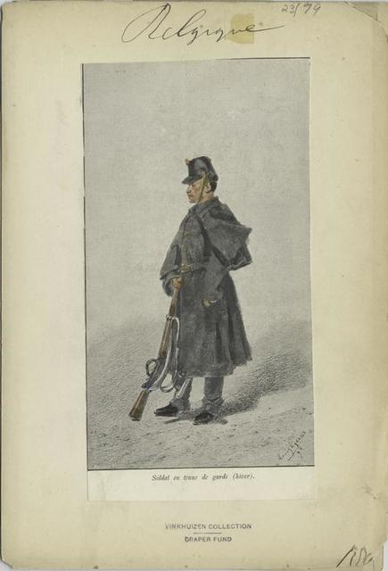 Soldat en tenue de garde (hiver)