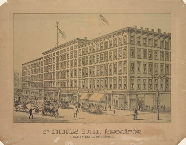 St. Nicholas Hotel, Broadway, New York. Uriah Welch, proprietor