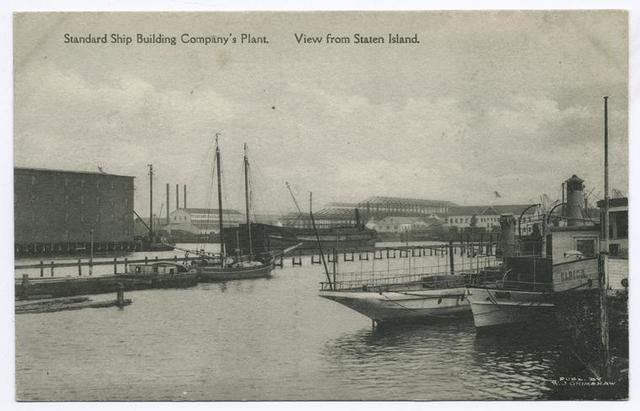 Standard Ship Building Company's Plant, View from Staten Island