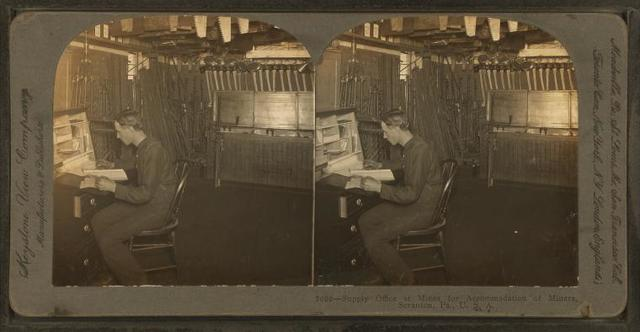 Supply office at mines for accommodation of miners, Scranton, Pa., U.S.A.