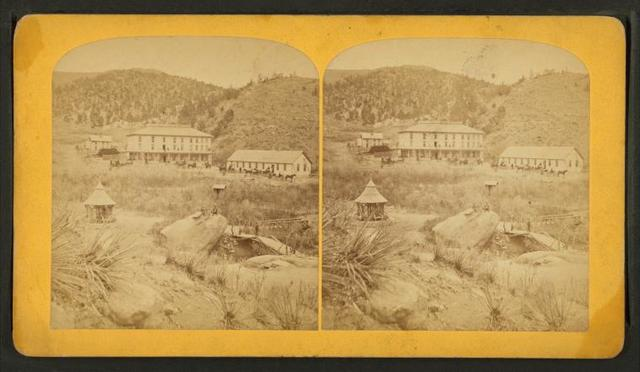 The Cliff House, and soda springs, Manitou, Colorado.