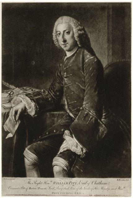 The Right Honble. William Pitt, Earl of Chatham.