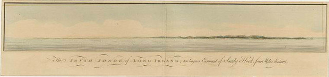 The south shore of Long Island, ten leagues eastward of Sandy Hook, four miles distant
