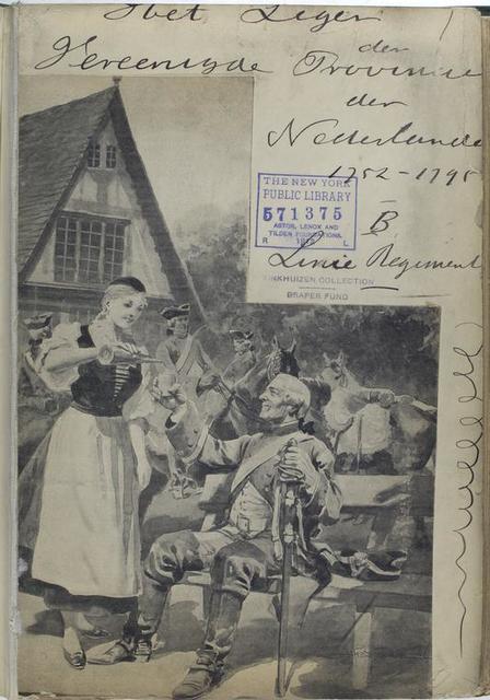 Title page Het Leger der Vereenigde Provincien der Nederlanden. 1752-1795,  B. Linie Regiment.