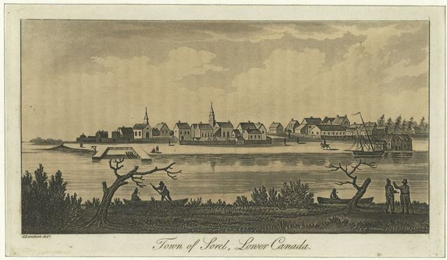 Town of Sorel, Lower Canada.