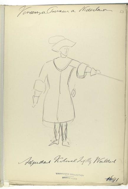 Vereenigde Provincien de Nederlanden. Adjudant Kolonel Infanterie Regiment Waldeck. 1691