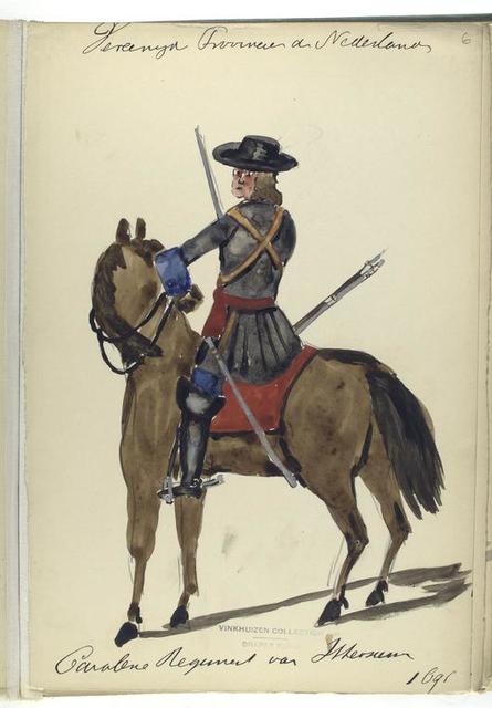 Vereenigde Provincien de Nederlanden. Cavalerie Regiment van ... 1691