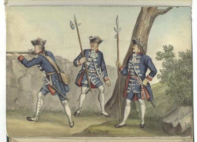 Vereenigde Provincien de Nederlanden. Füseliere.  1701