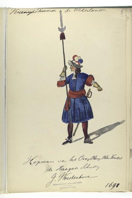 Vereenigde Provincien de Nederlanden. Hopman ... 1691
