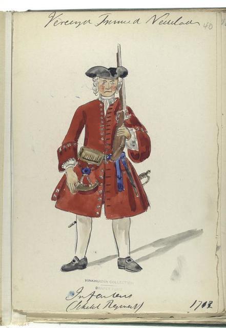 Vereenigde Provincien de Nederlanden.  Infanterie ( Regiment). 1713