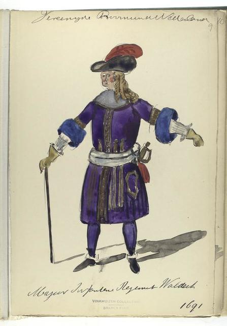 Vereenigde Provincien de Nederlanden... Infanterie Regiment Waldeck. 1691