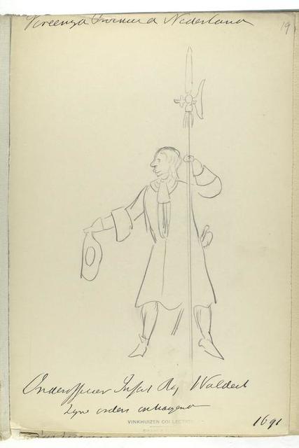 Vereenigde Provincien de Nederlanden. Onderofficier Inf. Rg. Waldeck. [...] 1691