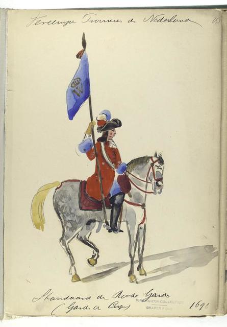 Vereenigde Provincien de Nederlanden. Staandard van Paarde Gards (Garde de Corps). 1691