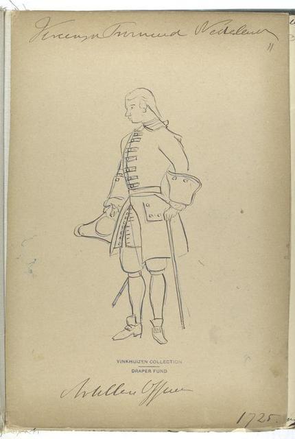 Vereenigde Provincien der Nederlanden.  Artillerie Officier. 1725