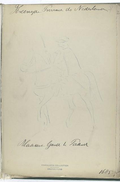 Vereenigde Provincien der Nederlanden Blaauwe Garde te Paard. 1685