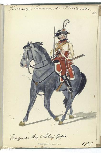 Vereenigde Provincien der Nederlanden. Dragonder Regiment Saksen Gotha. 1747