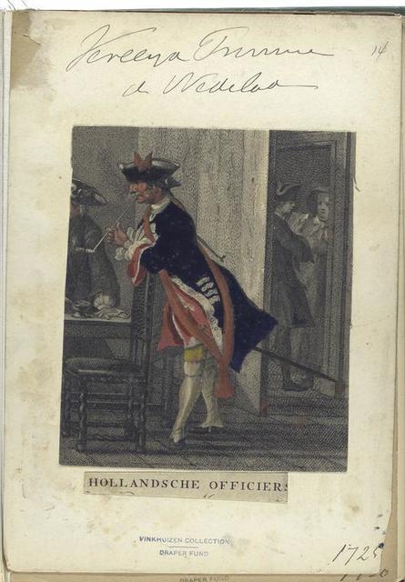 Vereenigde Provincien der Nederlanden. Hollandische Officiers. 1725