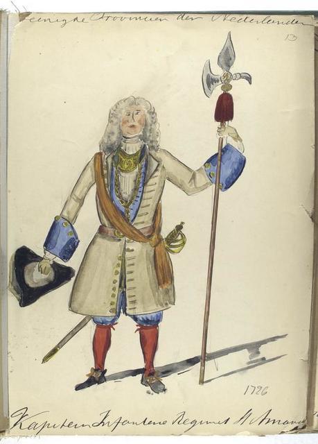 Vereenigde Provincien der Nederlanden. Kapitein Infanterie Regiment St. Amand. 1726