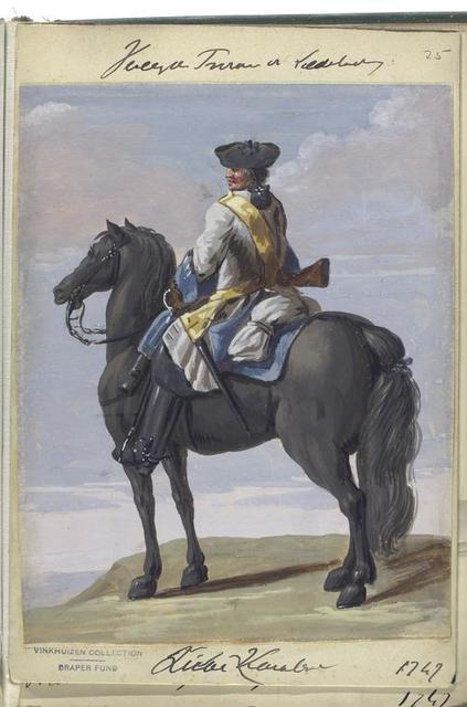 Vereenigde Provincien der Nederlanden. Lichte Kavalerie.  1747
