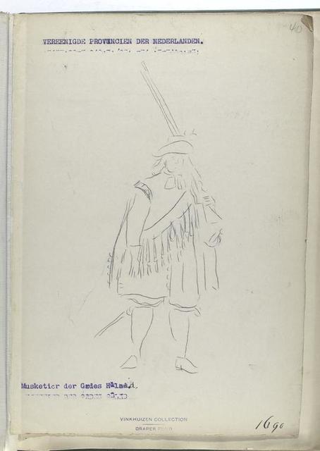 Vereenigde Provincien der Nederlanden Musketier der Gardes Holland. 1690