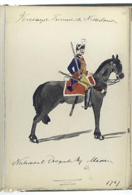 Vereenigde Provincien der Nederlanden. Nationaal Dragonder Regiment Massar [?].  1747