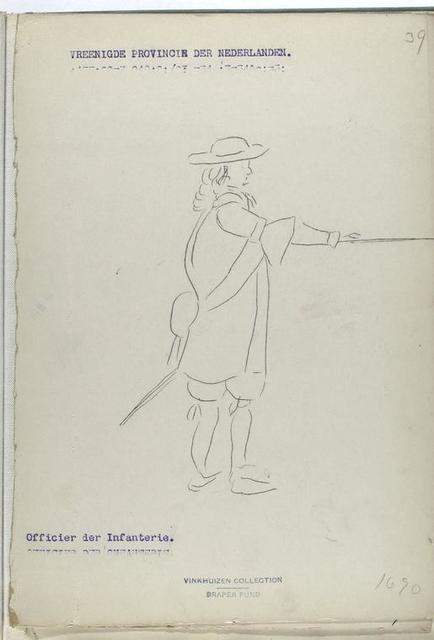 Vereenigde Provincien der Nederlanden Officier der Infanterie. 1690
