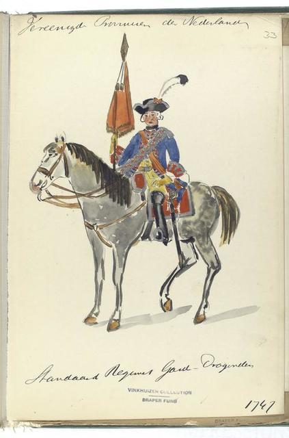 Vereenigde Provincien der Nederlanden. Standaard, Regiment Garde - Dragonder. 1747