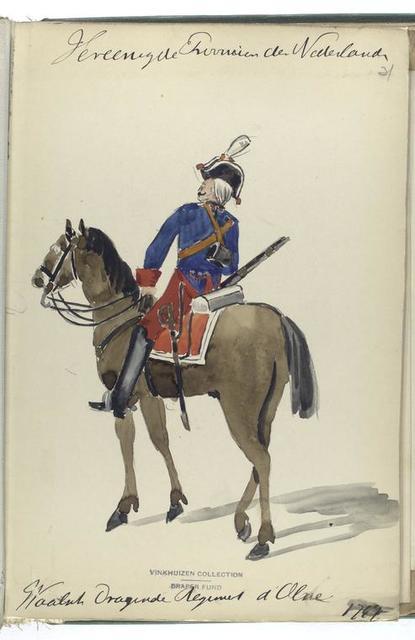Vereenigde Provincien der Nederlanden. Waalsche Dragonder Regiment d'Olne. 1747