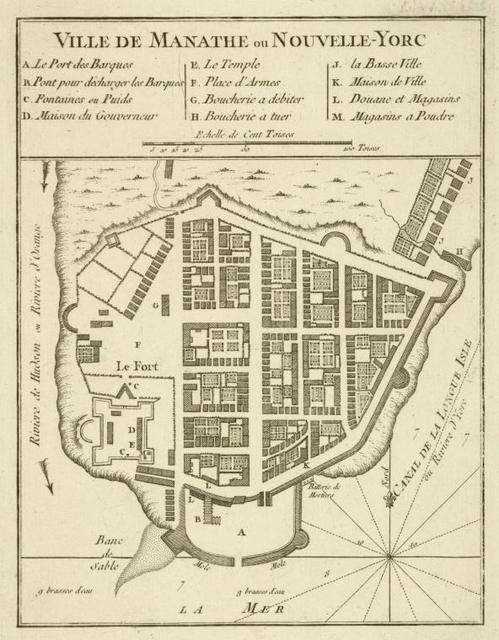 Ville de Manathe ou Nouvelle-Yorc.