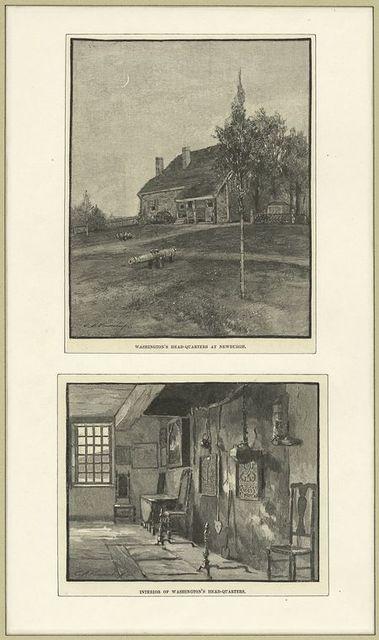 Washington's head-quarters at Newburgh; Interior of Washington's headquarters