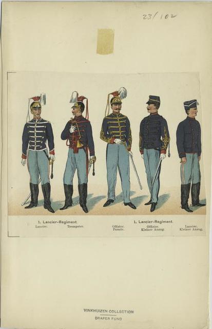 1. Lancier-Regiment, Lancier, Trompeter, 1. Lancier-Regiment, Offizier, Parade, Offizier, Kleiner Anzug, Lancier, Kleiner Anzug
