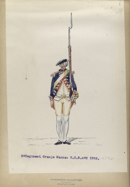 2-o Regiment Oranje Nassau  R.O.N.no. 2. 1768-1795