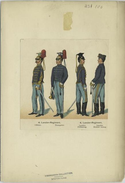 4. Lancier-Regiment, Offizier, Trompeter, 4. Lancier-Regiment, Lancier, Feldanzug, Lancier, Kleiner Anzug