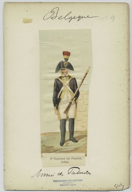 8e régiment (de Flandre). Soldat.