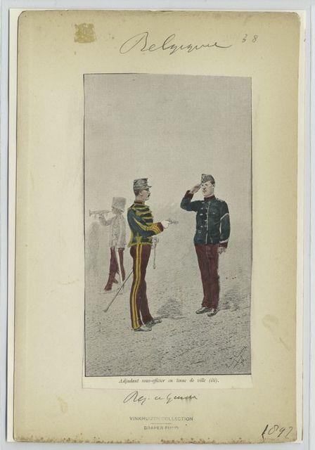 Adjudant sous-officier en tenue de ville (été). Régiment de guides. 1897