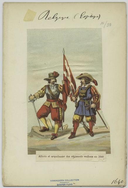 Alferès et arquebusier des régiments wallons en 1640