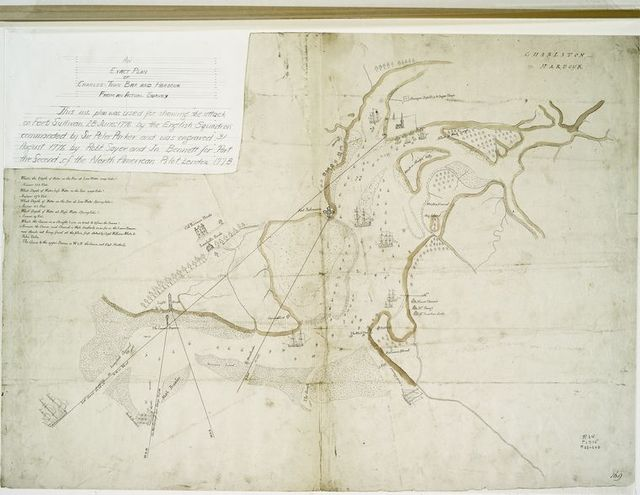 An exact plan of Charles-town-bar and harbour from an actual survey